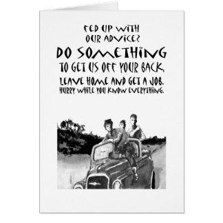 Teenager advice, humor. card