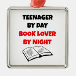Teenager by Day Book Lover by Night Christmas Tree Ornaments