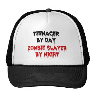 Teenager by Day Zombie Slayer by Night Mesh Hats