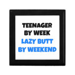 Teenager by Week Lazy Butt by Weekend Trinket Boxes