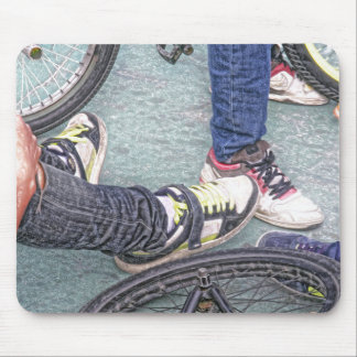 teenagers and bikes mouse pad