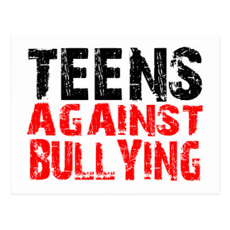 TEENS AGAINST BULLYING IN RED POSTCARD