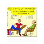 Teens are awesome cartoon postcard