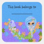 Teensy Fae Cute Faery Square Sticker