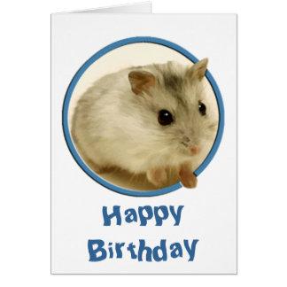 Teeny Hamster Birthday Greeting Cards