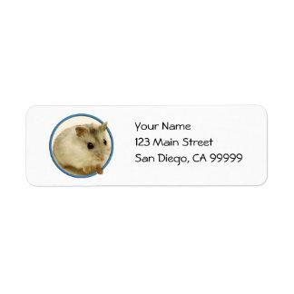 Teeny Hamster Label