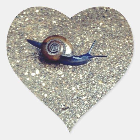 Teeny Snail Heart Sticker