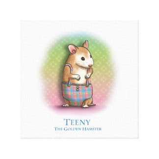 Teeny The Golden Hamster - Printed Canvas