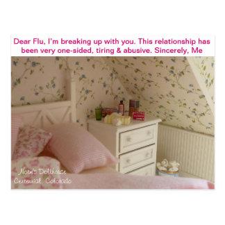 Teeny Tiny Cold - Dear Flu Postcard
