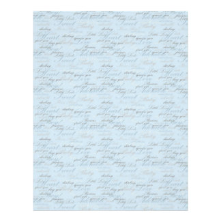 Teeny Toes BLU Dual Sided Scrapbook Paper Full Color Flyer