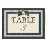 Teeny Toes BLU Table Card C