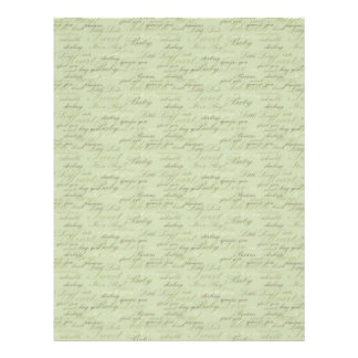 Teeny Toes GRN Dual Sided Scrapbook Paper Personalized Flyer