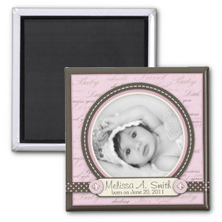 Teeny Toes Pink Photo Magnet B2