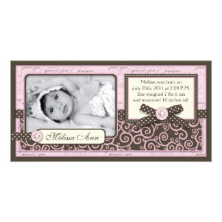 Teeny Toes PNK Announcement Card Photo Card