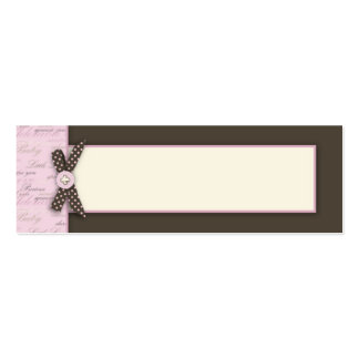 Teeny Toes PNK Skinny Gift Tag 2 Business Card Templates