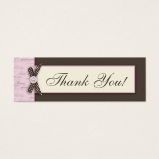 Teeny Toes PNK TY Skinny Gift Tag
