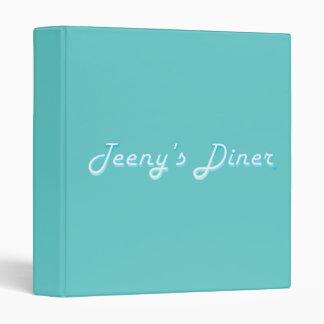 Teeny's Diner Logo 3 Ring Binder
