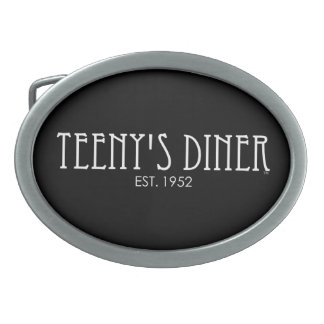 Teeny's Diner Oval Belt Buckle