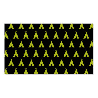 teepee black and yellow business cards