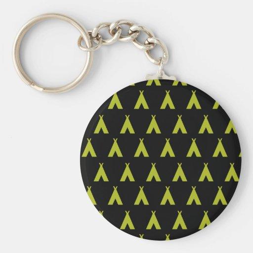 teepee black and yellow key chain
