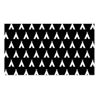 teepee black business card