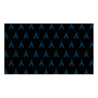 teepee blue black business cards