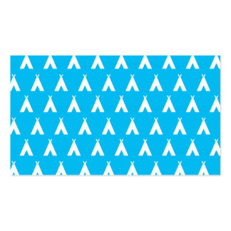 teepee blue business cards