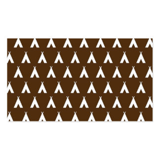 teepee brown business cards