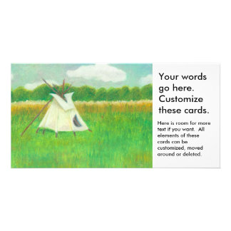 Teepee central Minnesota landscape drawing tipi Card