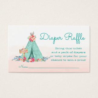 Teepee Diaper Raffle Tickets