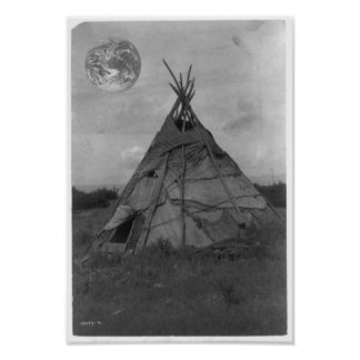 Teepee from Mars Poster