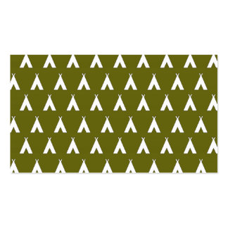 teepee green 2 business cards