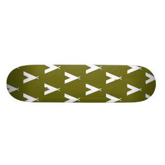 teepee green 2 custom skate board