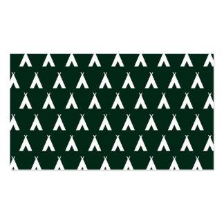 teepee green. business card template