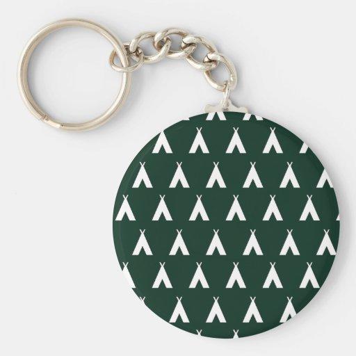 teepee green. keychain