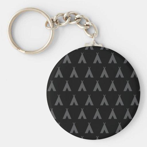 teepee grey key chain