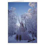 Teepee in Winter Greeting Cards