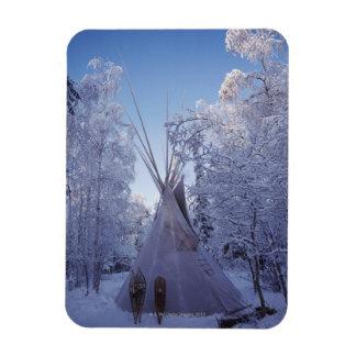 Teepee in Winter Magnet