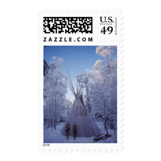 Teepee in Winter Stamps