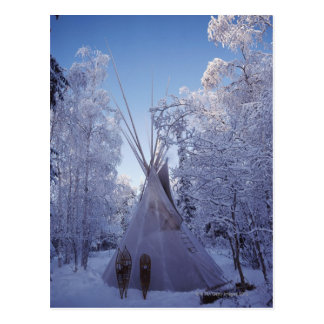 Teepee in Winter Postcard
