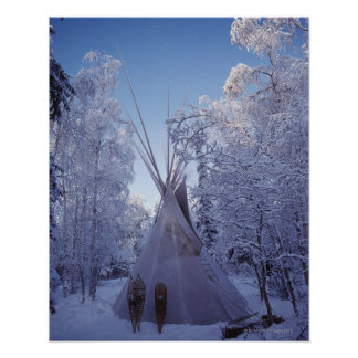 Teepee in Winter Poster