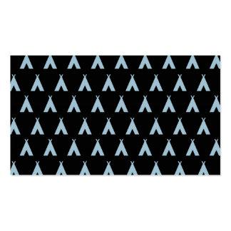 teepee light blue black business card