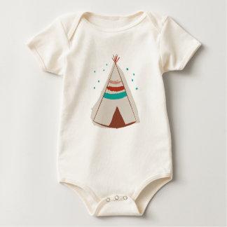 Teepee Native American Baby Pajama ORIGINAL DESIGN Romper