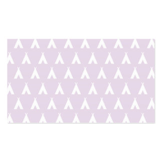 teepee pink business card templates