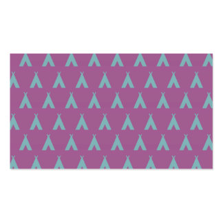 teepee pink grey business card templates