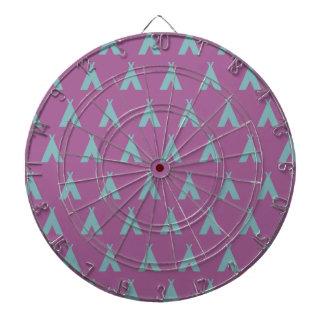 teepee pink grey dartboard