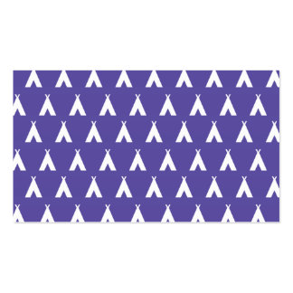 teepee purple business card template