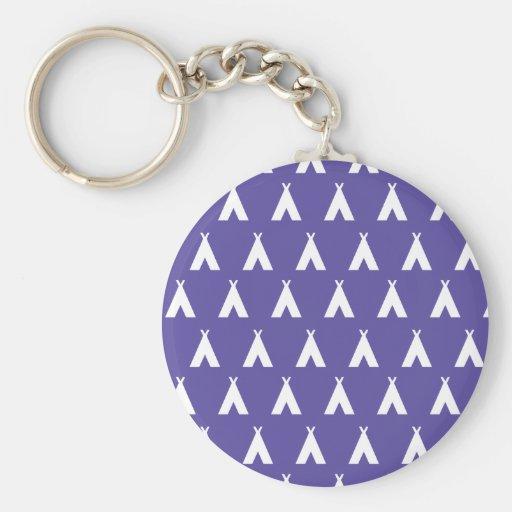 teepee purple keychain