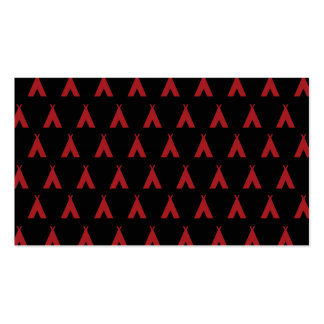 teepee red black business card