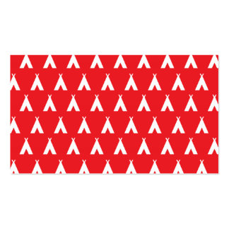teepee red business card template